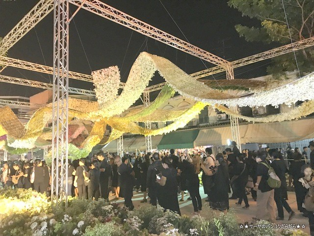 Floral display for King Bhumibol at the Flower Market (3)