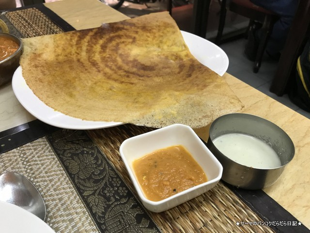royal dosa プラトゥナム インド料理 バンコク ドーサ