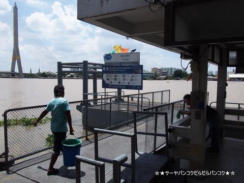 ターウェー 船着き場 バンコク 船 チャオプラヤー川 サーヤ