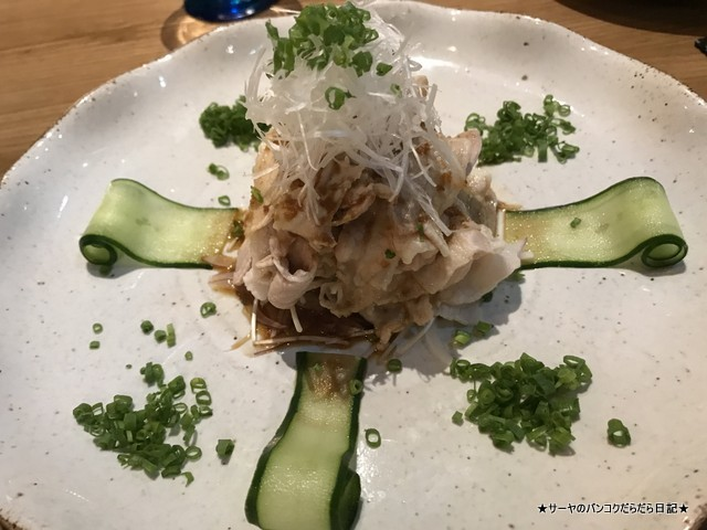 kuriyaroku bangkok 最新和食 バンコク 豚しゃぶサラダ
