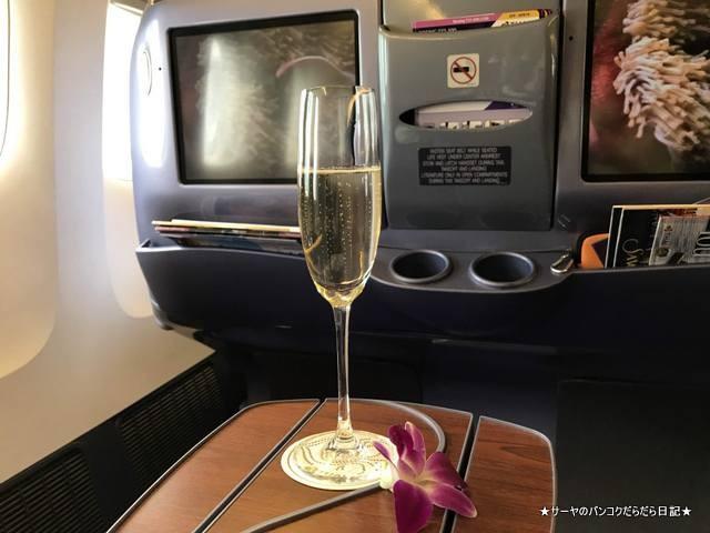 新千歳 北海道 TG671 BKK タイ国際航空 ビジネス (2)