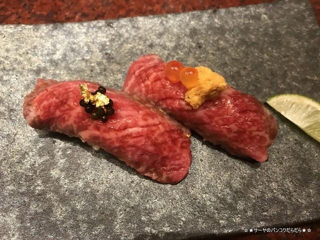 肉寿司 wagyu キャビア うに いくら (1)
