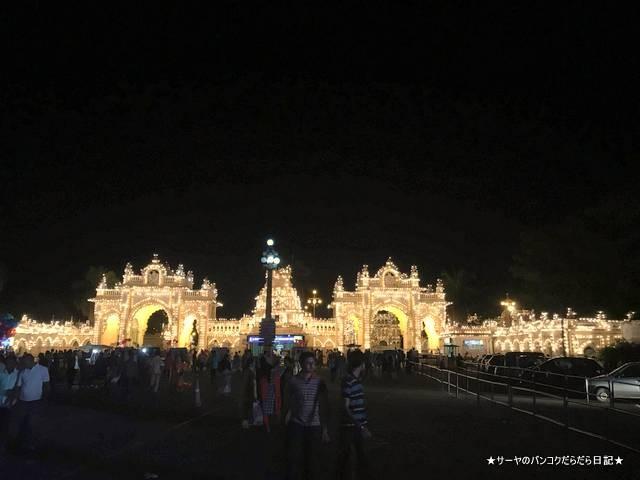 マイソールパレス 夜 ライトアップ 絶景 おすすめ インド (1)