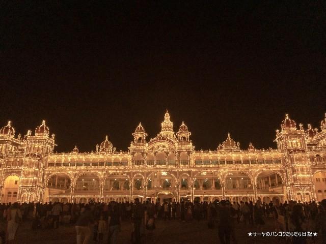 マイソールパレス 夜 ライトアップ 絶景 おすすめ インド (4)