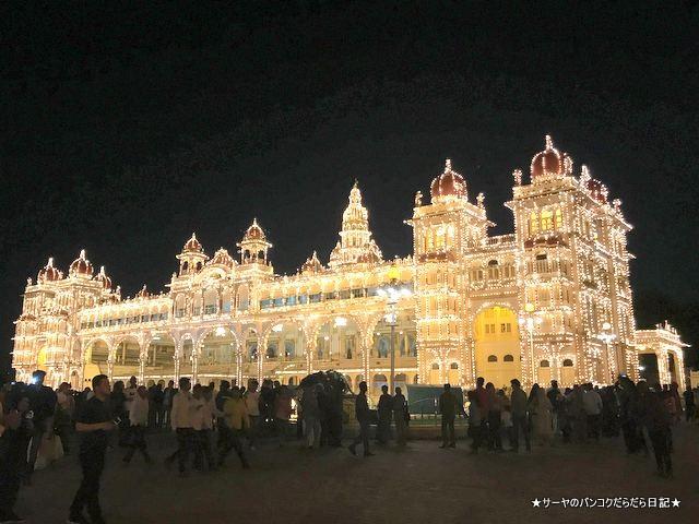 マイソールパレス 夜 ライトアップ 絶景 おすすめ インド (5)