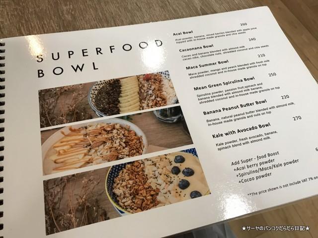 Brekkie Organic Cafe bangkok Sukhumvit menu