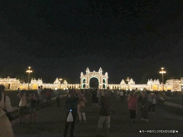 マイソールパレス 夜 ライトアップ 絶景 おすすめ インド (7)