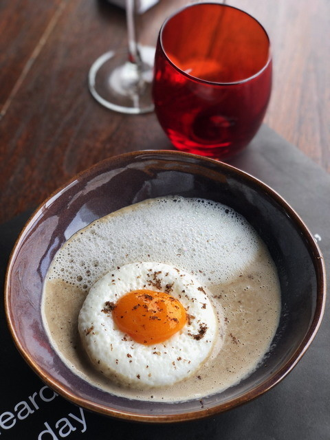 Truffle Soup with soft egg
