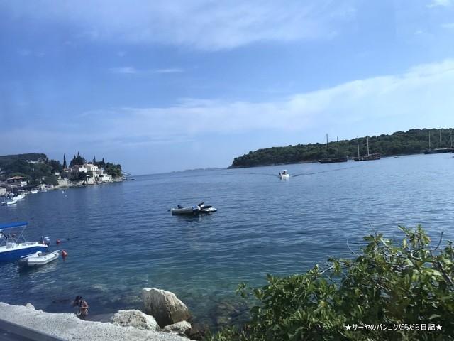 クロアチアの海