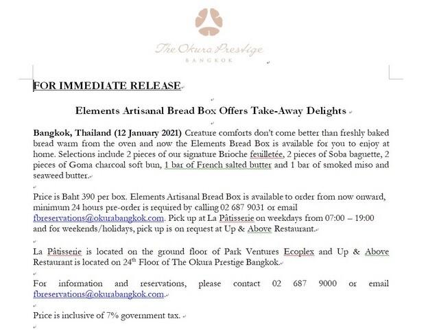 Elements Artisanal Bread Box Offers Take-Away Delights