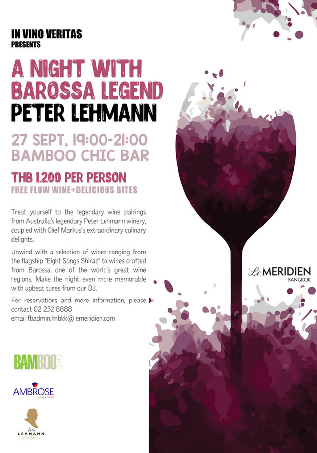 A NIGHT WITH BAROSSA LEGEND PETER LEHMANN