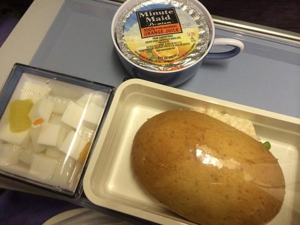 機内食(往路 2食目)