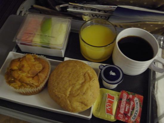 シンガポール航空の朝食