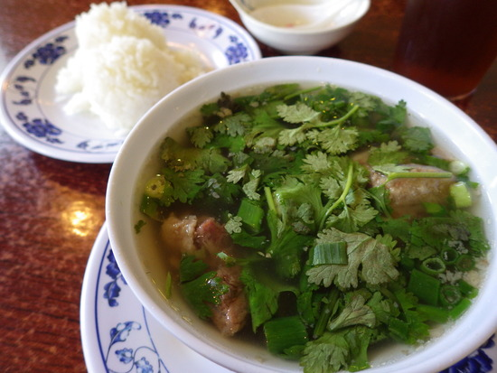 asahi grillのテールスープ