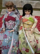 淡色桜模様振袖