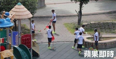 台湾で掃除