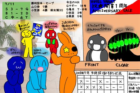 【順位スレ】広=====-//-巨=阪-De=中=ヤ【7/11】前半戦終了