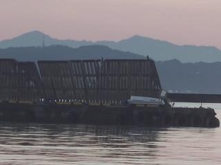 10月26日 台風21号でやられた防波堤側壁