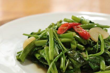 9月 空芯菜の炒め物