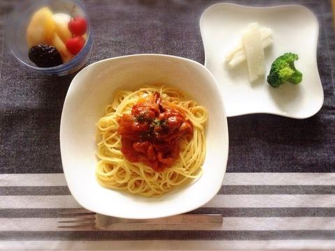 【リメイク?】鶏レバーのトマト煮をパスタに、そして月曜からハードに・・・