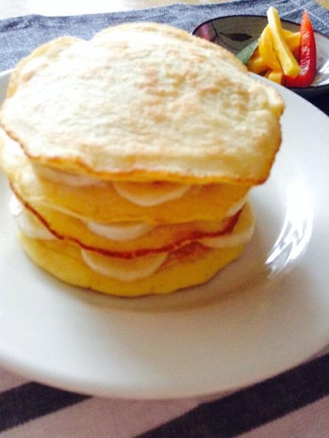 【おうちカフェ】簡単お洒落にバナナパンケーキ
