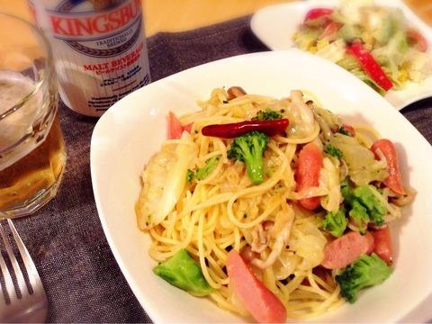 【リメイク・アレンジ】キャベツのオイル煮でパスタ