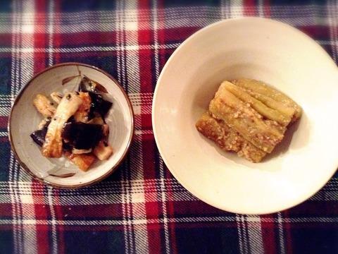 【簡単レシピ】1本の茄子から2品