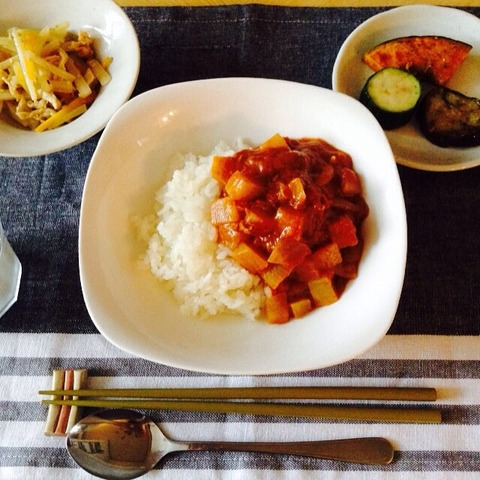 【簡単レシピ】大根とツナのトマトカレー
