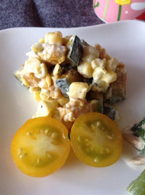 ブログ復活☆【簡単レシピ】かぼちゃとコーンのサラダ