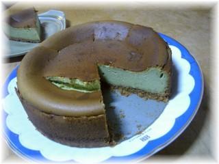 抹茶チーズケーキ2