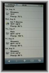 iphone天気3