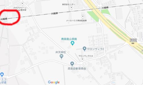 撮影地 南古谷~川越(踏切)