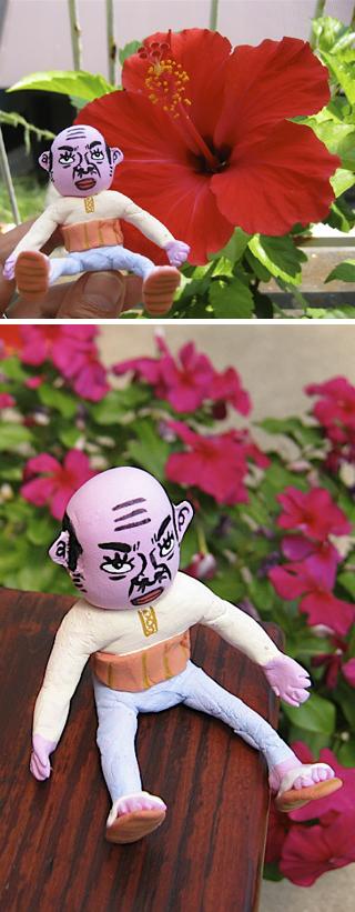 紙ねんオヤジ人形