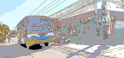 パロッツ君の街リンガエンでのローカルバスの乗り方