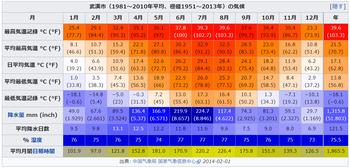 武漢の気候