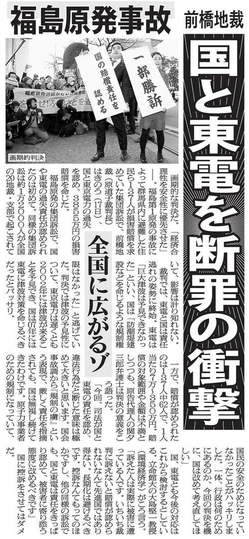 福島訴訟170318