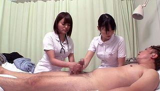 ボッキしてしまった患者が2人の看護師にWテコキ、Wフェラチオで看護師さんに抜いてもらったww
