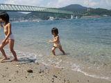 海遊び子供