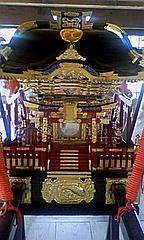 浮島磐尾神社の新しい神輿