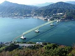 飯の山から臨む大島大橋