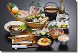 瀬戸内山荘やまもとの船盛り付会席料理