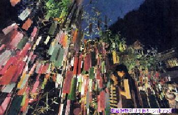 貴船神社:「ササ飾り・ライトアップ」 09' (2)