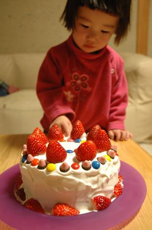 バースディケーキ。
