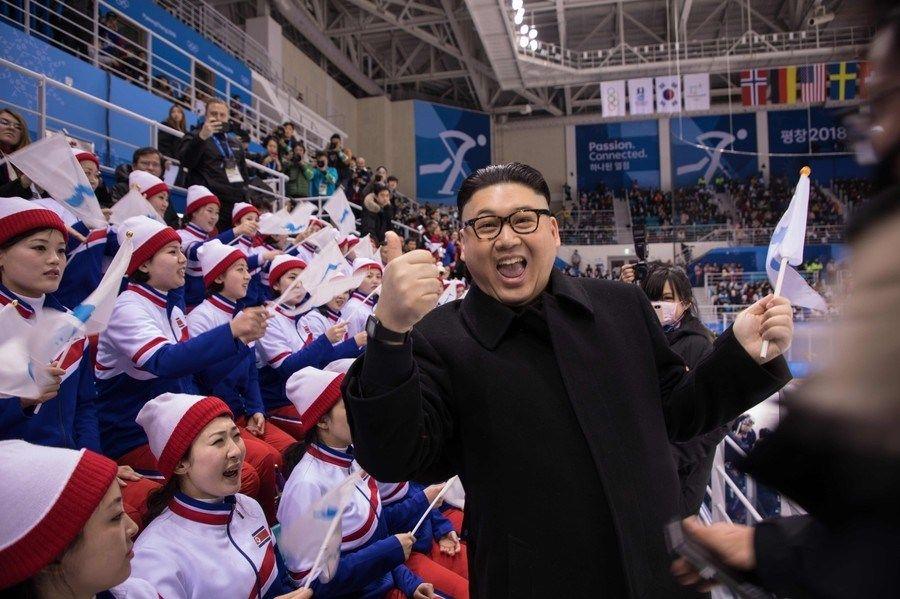 【平昌五輪】金正恩のそっくりさん、北朝鮮「美女応援団」に接近し退場に wwwwwwwwwwwwwwwwww