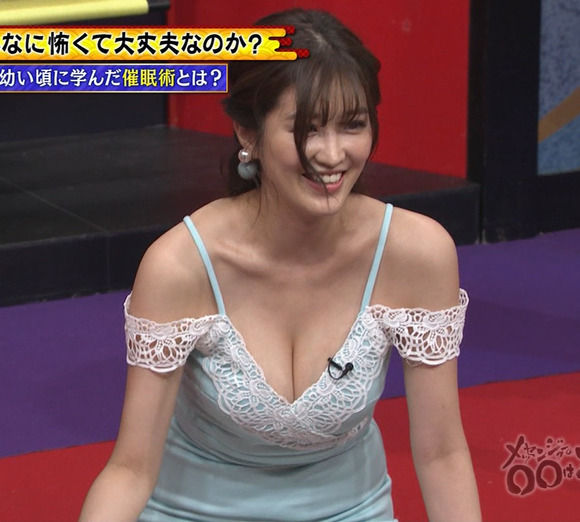 Gカップグラドル葉加瀬マイはテレビのおっぱい要員として素晴らしいデカパイだな!