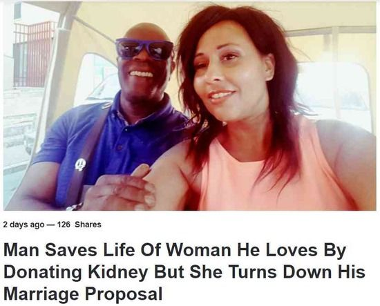 親友に腎臓提供した男性、その後プロポーズするも断られる・・・