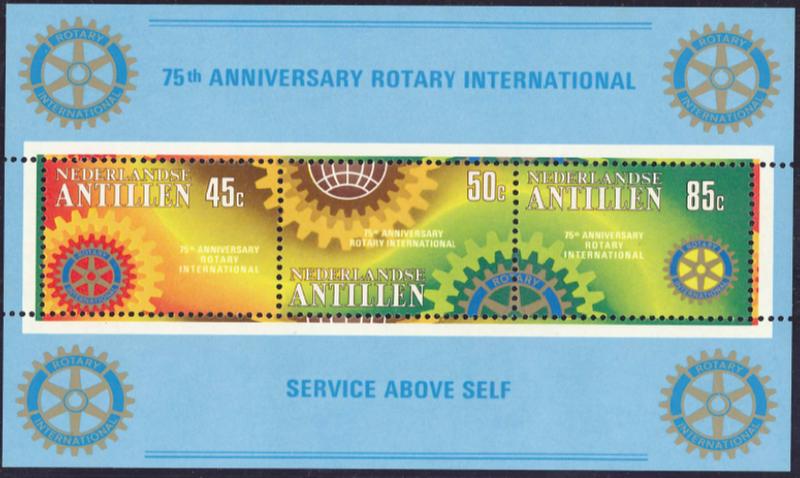 ロータリー切手 オランダ領アンティル諸島 1980-02-22 シート