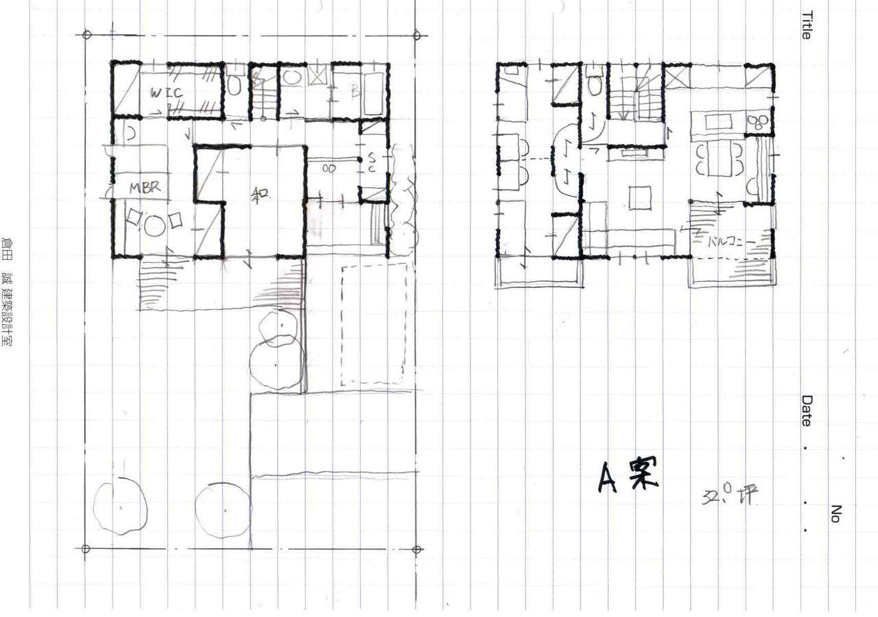 no19 公園を眺める2階リビングの家(32.0坪):間取りの相談所 葵建築設計®