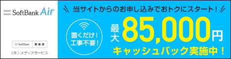 【SoftBankAir】置くだけ簡単!工事不要!