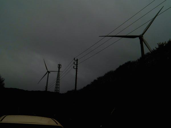 風車コラム2基目:雨の竜飛岬〜六ヶ所村